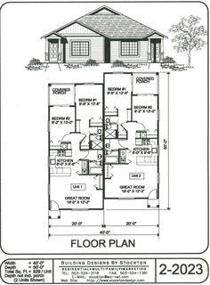 1000 Images About Duplex House Plans On Pinterest