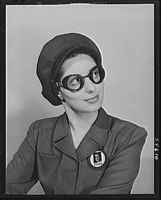 Safe clothes for woman war workers series, 1942-1945. Library of Congress.