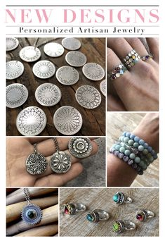 ✨NEW DESIGNS!✨ Heidi is super excited about the newest items added to the HJH Collection! Be on the lookout for even more new designs coming soon ❤️ Personalized Jewelry, Handmade Jewelry, Unique Jewelry, Jewelry Rings, Gold Chains For Men, Cross Jewelry, Girls Jewelry, Artisan Jewelry, Necklace Lengths