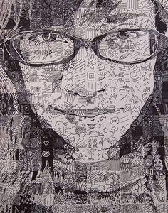 Custom Doodled Portrait Ink  sample 8 x 10 portrait by byMARIAROSE, $50.00
