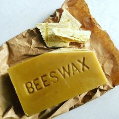 It's a bitch to cut this wax block, but I still love it! #beeswax #mikolichhoney #localhoney #localbeeswax #bees #beesareawesome #healingbalm #skinbalm #raw