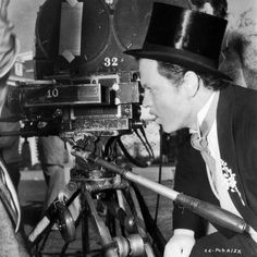 """Welles as director in costume for """"Citizen Kane""""."""