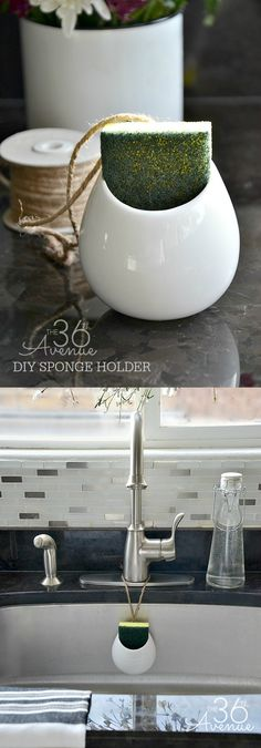 DIY Home Project - DIY Sponge Holder Tutorial. Great DIY Project for the kitchen.