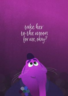 Bing Bong 'take her to the moon for me, okay?' Disney Inside Out Bing Bong 'take her to the moon for Disney Magic, Disney Pixar, Disney Amor, Disney And Dreamworks, Disney Rapunzel, Disney Cartoons, Disney Characters, Disney Illustration, Illustrations