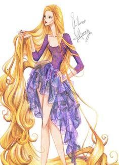 RApunzel Disney Characters As Haute Couture Skiny Super Models Rapunzel Flynn, Disney Rapunzel, Princess Rapunzel, Princesa Disney, Princess Art, Princess Style, Disney Princesses, Rapunzel Sketch, Tangled