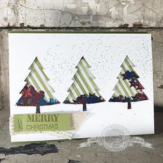 Shaking things up with this fun shaker card created using Stampin' Up!'s Peaceful Pines stamp set.  #create #diy #papercrafts #christmas #handmade #stampinup