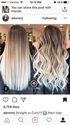 Are you going to balayage hair for the first time and know nothing about this technique? We've gathered everything you need to know about balayage, check! Hair Color Balayage, Hair Highlights, Balayage Brunette To Blonde, Balyage Long Hair, Platinum Blonde Ombre, Long Ombre Hair, Dyed Hair Ombre, Haircolor, Cabelo Ombre Hair