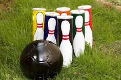 Bowling Set...pringles can and soccer ball