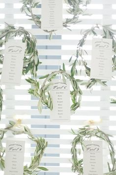 Olive Wreath Seating Chart | Nadine Aucamp Photography on @SouthBoundBride via @aislesociety