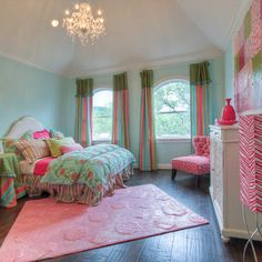 little girls room pink yellow and aqua - Google Search