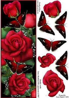 Red Rose Flutter DL by Karen Wyeth A charming quick card topper featuring…