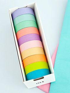 Pastel Japanese masking tapes