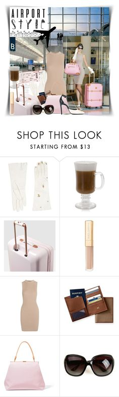 """""""Jet Set Airport✈"""" by ela79 ❤ liked on Polyvore featuring Dsquared2, Ted Baker, Tart, Mark & Graham, Mansur Gavriel, Lanvin, Pumps, dresses, sunglasses and coffee"""