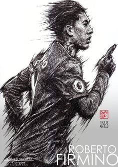 Roberto Firmino : Liverpool season 2016-2017 #Liverpool #TheKopArtsStudio. #liverpoolfc #football #thisisanfield #lfc #lovelfc #ynwa #picoftheday #art