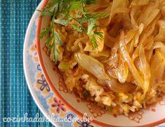 Receita de Palitos de Cebola | Cozinha da Kika Tortas Light, Pasta, Cabbage, Vegetables, Ethnic Recipes, Fitness, Tater Tots, Carmelized Onions, Spices
