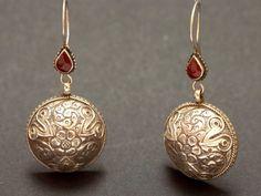 Old silver Afghan earrings