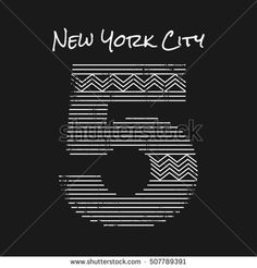 Vector illustration on the theme in New York City. Grunge background. Number sport typography, t-shirt graphics, print, poster, banner; flyer, postcard