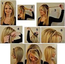 Resultado de imagem para penteados faceis de fazer passo a passo