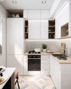 Do you want a little cooking area layout suggestions? The trouble, exactly how can we make a wonderful kitchen as well as comfortable in the house. As well as right here we give 46 motivation layout suggestions little kitchen area for your residence. Kitchen Room Design, Kitchen Cabinet Design, Modern Kitchen Design, Home Decor Kitchen, Kitchen Living, Interior Design Kitchen, Home Kitchens, Kitchen Cabinets, Kitchen Layout