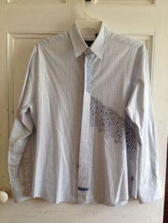 English Laundry Shirt Mens Size L Christopher Wicks Long Sleeve Large Cotton