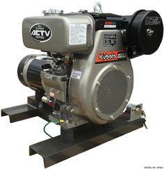 Kubota Watt Diesel Generator Impresses with its compact design and excellent fuel efficiency. This unit features a Kubota Tier 4 diesel engine, electric start and receptacle panel. Small Diesel Generator, Emergency Generator, Allis Chalmers Tractors, Pressure Pump, Mini Excavator, Kubota, Small Engine, Go Kart, Diesel Engine