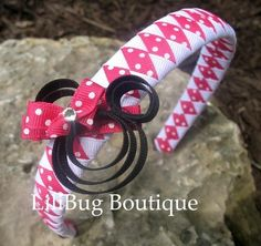LiliBug Hot Pink Minnie Mouse Woven Headband by LiliBugBoutique, $11.00