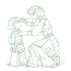 """enbouton: """"I can imagine little tiny Lin being in awe of the Kyoshi Warriors and getting along really well with Suki. Avatar Aang, Avatar Airbender, Suki Avatar, Avatar Funny, Team Avatar, Suki And Sokka, Kyoshi Warrior, Lin Beifong, Avatar Series"""