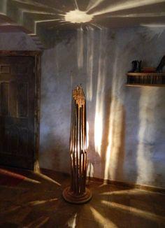 Home Floor Lamp - Saguaro Cactus Floor Lamp with Wood Base Southwestern Floor Lamps, Wood Floor Lamp, Wood Lamps, Cactus Lamp, Lamp Bases, Wood Creations, Light Fixtures, Home Improvement, Flooring