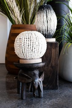 Sphere and Barrel Beaded Table Lamp are the perfect statement table lamps. #beadedlighting #statementlamp #tabletoplamp #africandecor Interior Design Inspiration, Home Decor Inspiration, Barrel Table, Luxury Decor, Unique Lighting, Interior Lighting, Table Lamps, Interior Decorating, Gift Ideas