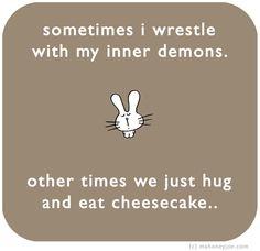 mmmm...cheesecake...