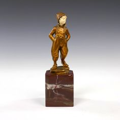 Hans Keck, a chryselephantine figure of a boy - Marco Lagerweij - 20th century decorative arts