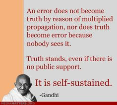 Error, truth is self sustained