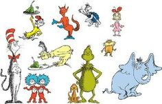 Amazon.com: Dr Seuss Wall Decals Cat in the Hat: Toys & Games $12
