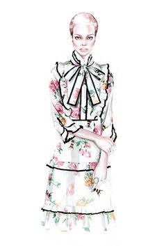 GUCCI Pre Fall 2017 fashion illustration by #antoniosoares