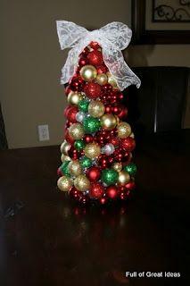 Full of Great Ideas: Christmas Ornament Tree