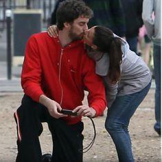 Pau and girlfriend, Silvia Lopez Castro