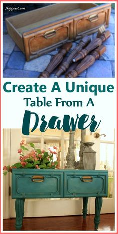 Create A Unique Table From A Drawer | Shoppe No. 5 - Featured at the Home  Matters Linky Party 140