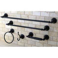 @Overstock - This bathroom accessory set is a great way to complete any bathroom. The oil rubbed bronze finish adds a touch of elegance to your daily routine.http://www.overstock.com/Home-Garden/Naples-Oil-Rubbed-Bronze-5-piece-Bathroom-Accessory-Set/6818333/product.html?CID=214117 $59.99