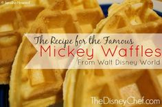 This is it! The famous Mickey Waffles Recipe from Walt Disney World! Relive the magic of Disney parks at home with this iconic recipe!