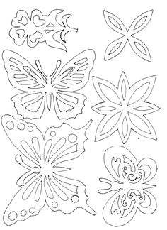 Paper Embroidery Patterns Butterfly stencil or embroidery patterns Butterfly Stencil, Butterfly Template, Butterfly Wall Art, Paper Butterflies, Butterfly Wall Stickers, Butterfly Design, Paper Flowers, Crown Template, Butterfly Mobile