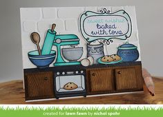 Lawn Fawn Video {8.9.16} A Cute Kitchen Scene by Nichol!