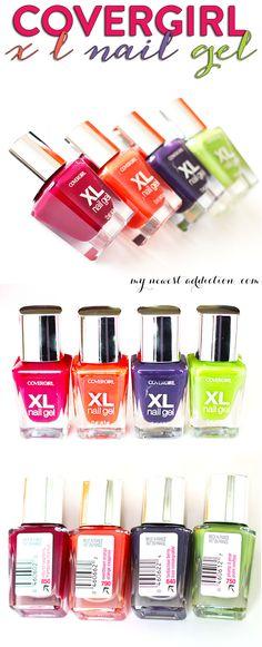 Get easy salon-free gel nails in just one polish!  Covergirl XL Nail Gel - www.mynewestaddiction.com