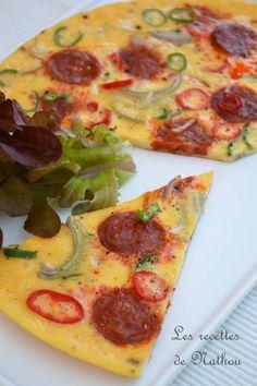 Je ne suis pas une grande fan d'omelette... mais avec une bonne garniture comme j'aime, ça passe mieux ;-) Ingrédien...