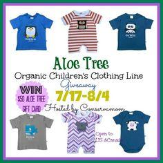 Aloetree Kids Organic Clothing Giveaway!