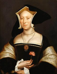 The Royal Collection: Elizabeth Cheyne, Lady Vaux (1505-1556) Creator: After Hans Holbein the Younger