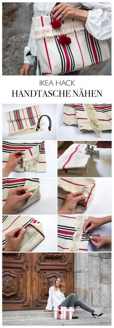 DIY instructions IKEA sew sewing bag from carpet - make handbag yourself - DIY blog from Berlin lindaloves.de