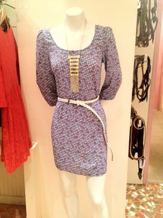 Channel your inner retro diva in this dress! Layer on a bold statement necklace for an extra punch of saucy!!