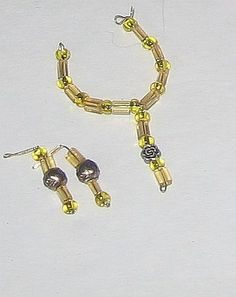 yellow flower necklace and earrings for your Fashion Doll 2 - Other