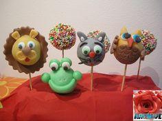 Cake Pops Animali in Pasta di Zucchero