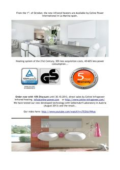save-money-with-heatingfrom-the-1st-of-october-the-new-infrared-heaters-are-available-by-celine-power by Marina Infocenter via Slideshare